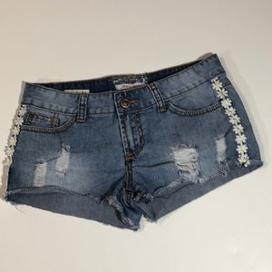 Hot Kiss Low Rise Distressed Jean Shorts